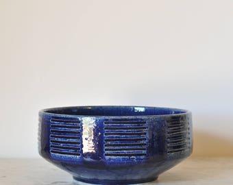 Palshus Denmark Large Bowl Ceramic Art Pottery Per Linnemann Schmidt Danish Modern