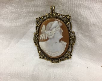 antique cameo brooch with replaced mount