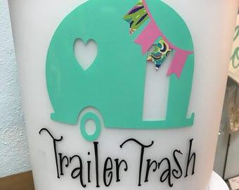 Trailer trash trash can - trailer trash - trash can - trailer - camper - camping