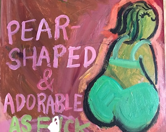 Pear shaped painting