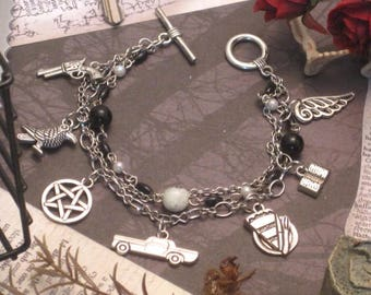 Paint It Black - a Supernatural fanart bracelet for the Winchesters and some friends