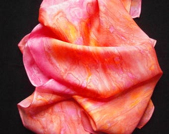 "Silk Scarf - ""Pink Sunset"""