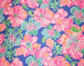 JUNGLE UTOPIA  print Spring 2018  cotton poplin 6 X 6,  9 X 18 inches or 18 X 18 inches  ~Authentic Lilly Pulitzer fabric~