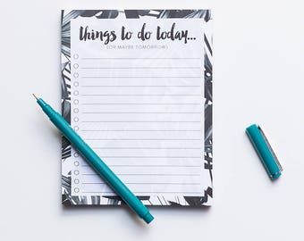 Lined Notepad, Tropical Note, Memo Pad, To Do List, Get Things Done, Organization List, Planner List, Planning Sheets, To Do Task List