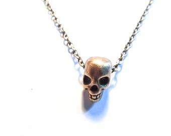 Necklace bronze skull steampunk skulls Chrome Hearts Baby Angel