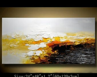 Abstract Large ORIGINAL Painting Modern Textured Painting,  Palette Knife, Home wall art Decor, acrylic art Painting on Canvas  by Chen 0615
