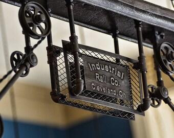 Industrial Rail Light - Ceiling Light - Pendant Light - Kitchen Island - Restaurant - Steampunk - High Quality - Warehouse