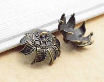 The  antique bronze  plating  bead cap  pendant finding