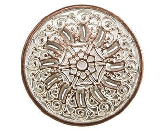 4 Byzantine 13/16 inch ( 20 mm ) Metal Buttons Silver Copper Color