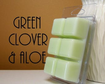 ON SALE - Green Clover and Aloe Scented Candle Tarts