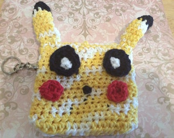 Pikachu inspired keychain and purse