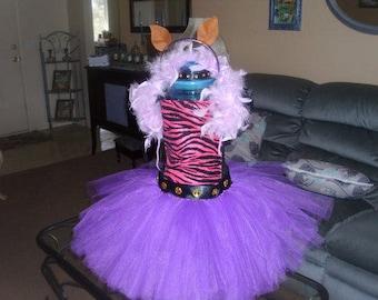 Monster High Clawdeen Costume Flower Girl Tutu Dress