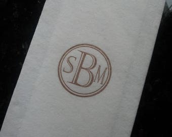 200 Personalized Guest Towels, Napkins or Serviettes, Soft Linen-Like Paper, Custom Designs
