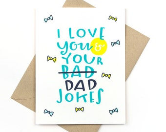 funny father's day card - dad jokes