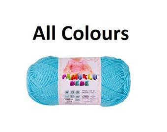 Baby Cotton Kartopu Pamuklu Bebe 100gr ,amugurumi yarn, cotton yarn, baby yarn, blanket yarn