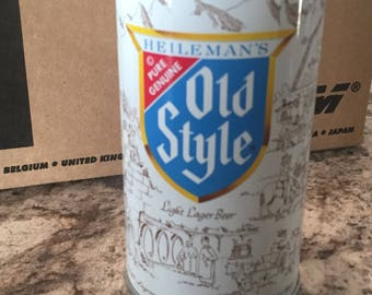 Vintage Old Style Beer Can - Old Style - Old Style Steel Can - Pencil Cup