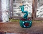 weird glass bottle - hand blown -  12th scale