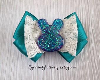 Glitter Bunny Hair Bow