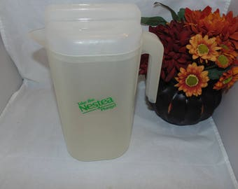 Vintage  Nestea ice tea Take the Nestea plunge Juice Pitcher 63 oz