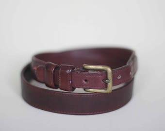 vintage liz claiborne brown leather belt women's size L