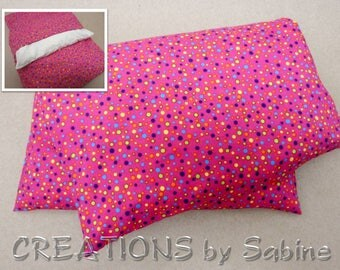 Corn Heating Pack, Corn Pillow with washable cover Microwave Therapy Pad pink colorful dots girl gift idea polka dots  READY TO SHIP (495)