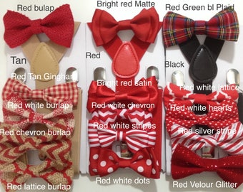 Valentines Day Bowtie Suspenders for baby boys kids toddler Men Pets Dogs Fair Isle Bowtie Buffalo Plaid Bow Rustic Wedding Ring Bearer gift