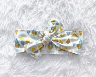 Bohemian Babies diamond print head wrap//Tie headband//Toddler head wrap//Baby head wrap//One size fits all//Made to order