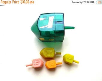 Sale Vintage Dreidels - Hanukkah - Jewish Game - Teetotum - Vintage Tops - Vintage Toys - Hanukkah Gift