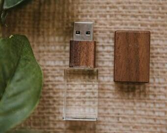 Set of 15 - 16gb FAST USB 3.0 - Walnut Crystal flash drive