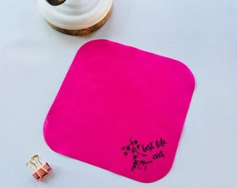 Set of 36 Fuschia Lens Cloth with Round Edge