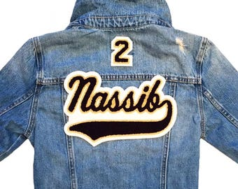 Custom Denim Jacket with Tail and Number