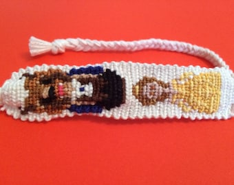 Handmade Beauty and the Beast floss friendship bracelet