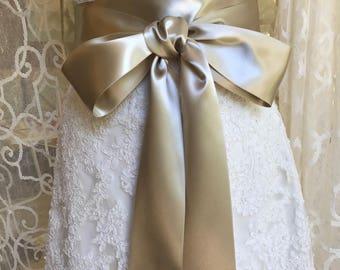 Wedding Sash-Weddings-Accessories-Champagne Sash-Wedding Belt-Bridal Belt-Bridal Sash-Satin sash-Satin belt-belt-sash-Champagne-Bridesmaid