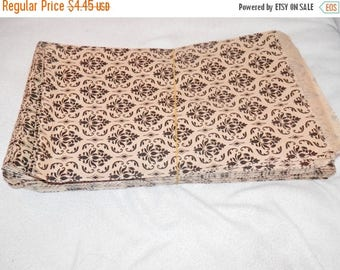 On Sale 50 Pack Damask Print Merchandise Bags, Paper Bags, Gift Bags 6x9  Favor Bags