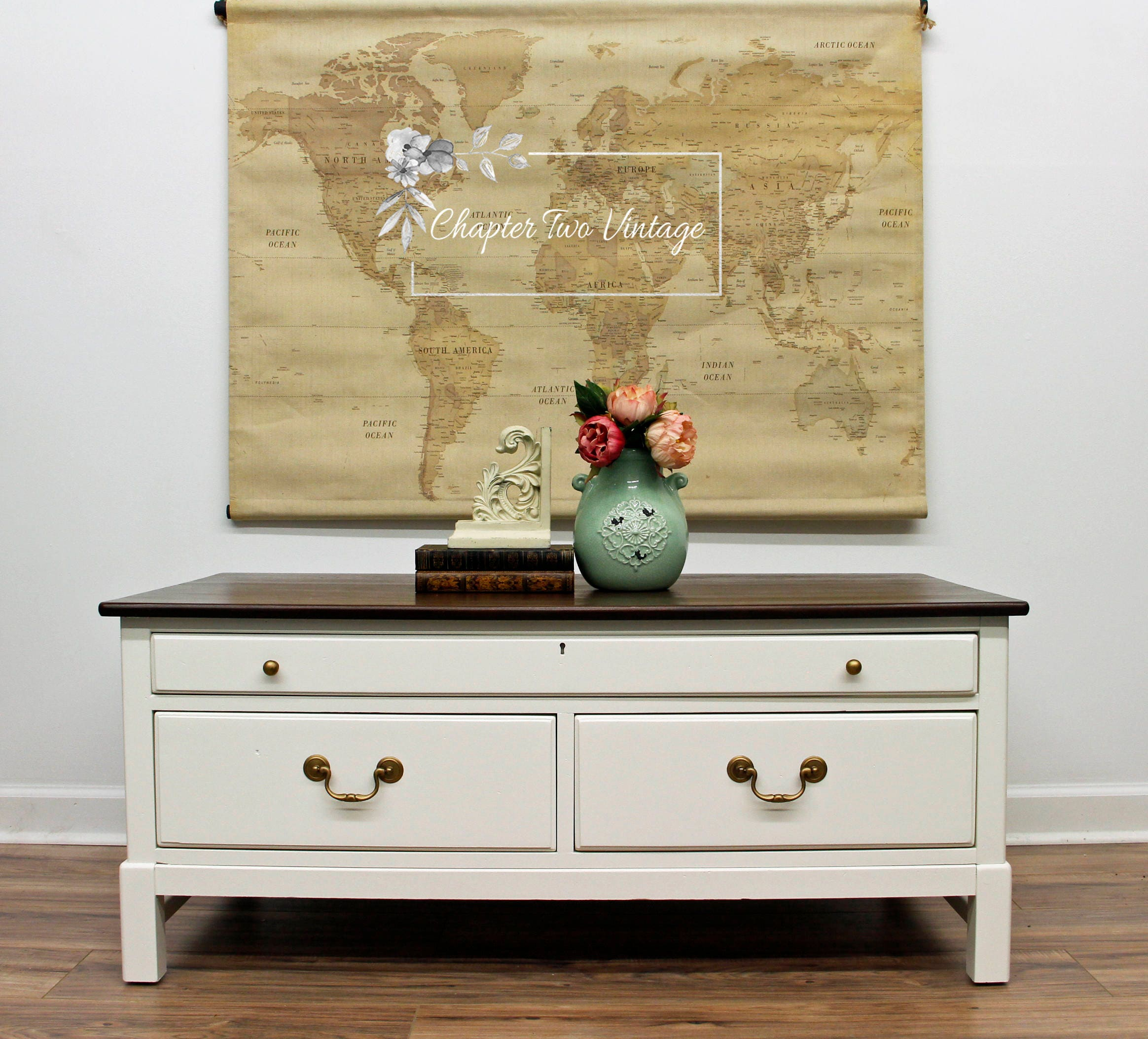 Solid Wood Farmhouse Style Coffee Table