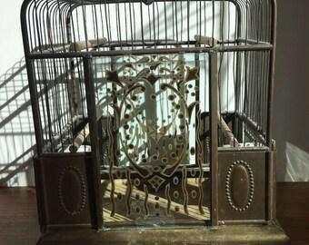 Vintage Gatsby era 1920's antique birdcage