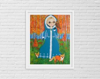Forest Art, Woodland Animals, Woodland Nursery, Cute Woodland Animal, Forest  Animals, Woodland Animal, Forest Nursery, Red Fox, Owl Art