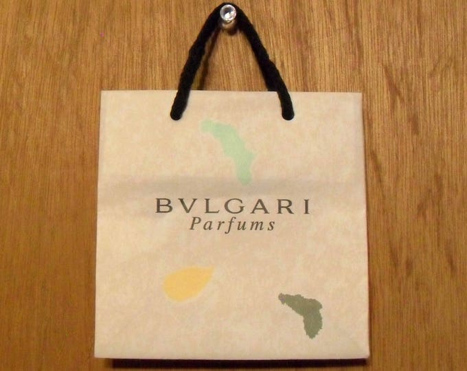 Vintage 1990s Petits et Mamans by Bvlgari Perfume Promotional Paper Shopping Bag Designer Fragrance Collectible