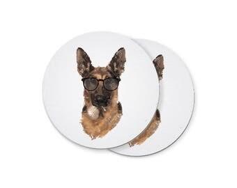 German Shepherd Portrait Coasters