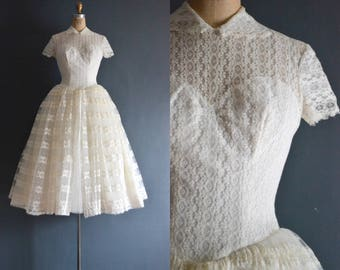 Jessica / 50s Marie of Pandora wedding dress / bridal gown