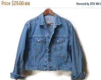 SALE Brody jean jacket medium light denim size S M unisex