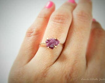 Ruby Engagement Ring, Promise Ring, Ruby Ring, Engagement Rings, Rose Gold Ring, Ruby Stone, Anniversary Ring, July Birthstone