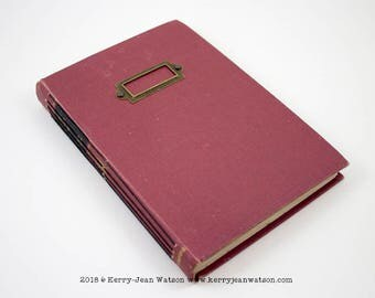 Where Eagles Dare Bare Bones Journal, Junk Journal, Writing Journal, Altered Book, Travel Journal, Vintage Journal, Memory Journal