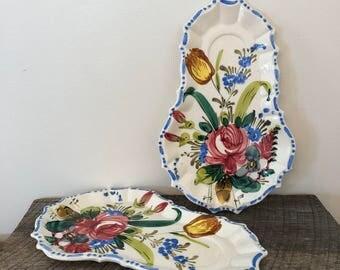 Vintage Italian Tea Plates / Dessert Plates