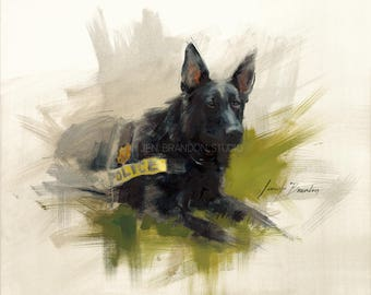 German Shepherd Giclée Fine Art Print