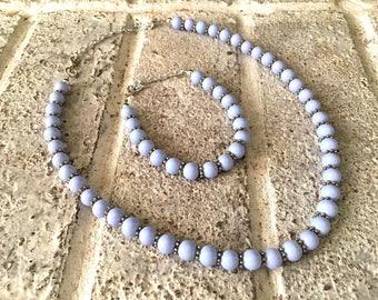 Lavender Necklace, bracelet + Necklace set, Light Purple Necklace, Bridesmaid Necklace, Purple bridesmaid, purple wedding