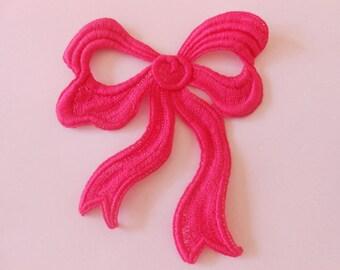 Big bow pink fuchsia 12.5 x 10.5 cm