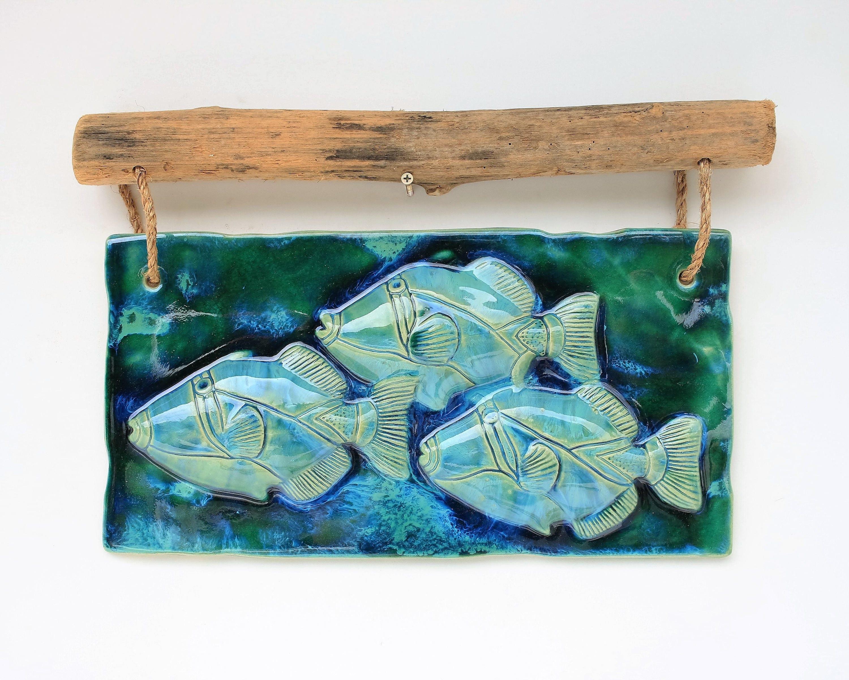 Hawaii Fish Art, Fish Art, Fish Wall Hangings, Ceramic Fish Art ...
