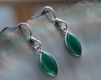 Aventurine stone and Silver earrings