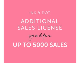 Additional Sales License for up to 5000 sales of One Clipart Set - Commercial Use of Digital Graphics and Clip Art Sets